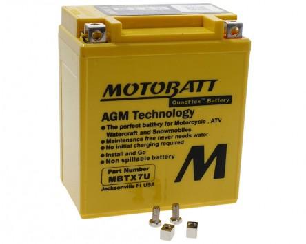 Batterie 12V 8Ah MOTOBATT MBTX7U