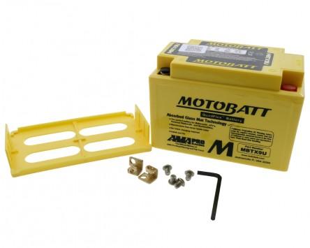 Batterie 12V 10,5Ah MOTOBATT MBTX9U, 4-polig