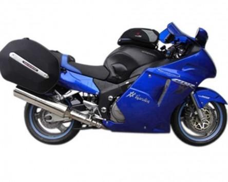 Seitenkoffer System Aero ABS. ABS/600D nylon, schwarz, Honda CBR 1100 XX, 97-13