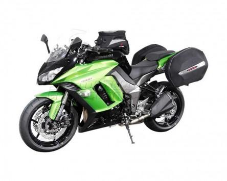 Seitenkoffer System Aero ABS. ABS/600D nylon, schwarz, Kawasaki Z 1000 SX 11-