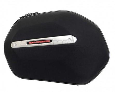 Seitenkoffer System Aero ABS. ABS/600D nylon, schwarz, Suzuki SFV650 GLADIUS