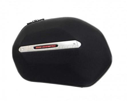 Seitenkoffer System Aero ABS. ABS/600D nylon, schwarz, Yamaha FZ1 / Fazer 06-