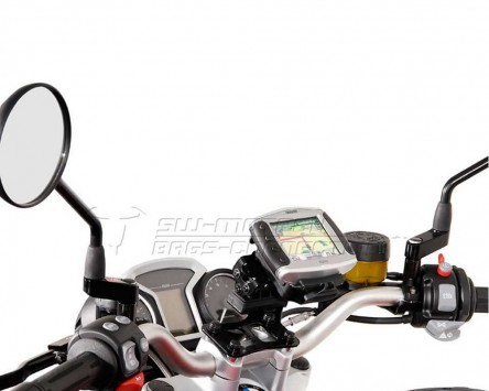 GPS Navi Halter Quick-Lock, schwarz, Vibrationsgedämpft, BMW R 1200 R 11-