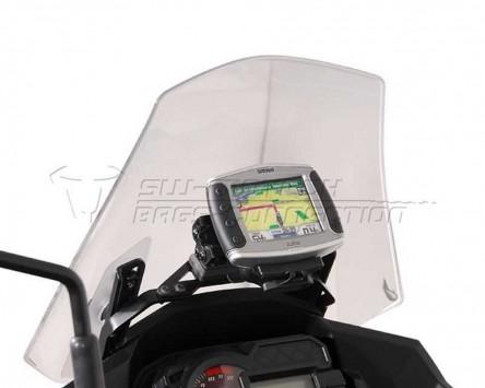 GPS Navi Halter Quick-Lock schwarz, vibrationsgedämpft, Versys 1000, 12-