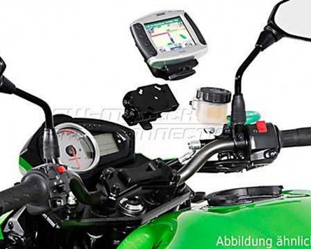GPS / Navi Halter QUICK-LOCK Schwarz Vibrationsgedämpft Kawasaki Z 1000, 07-09