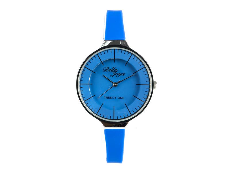 Trendy One, formschöne Modeuhr, blau