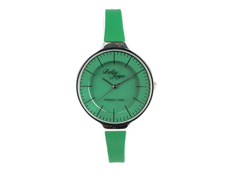 Trendy One, formschöne Modeuhr, grün