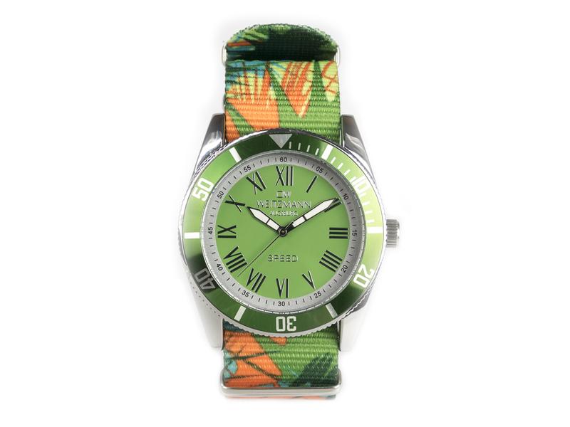 Speed Camouflage, Hippie-Unisex-Uhr, Look grün