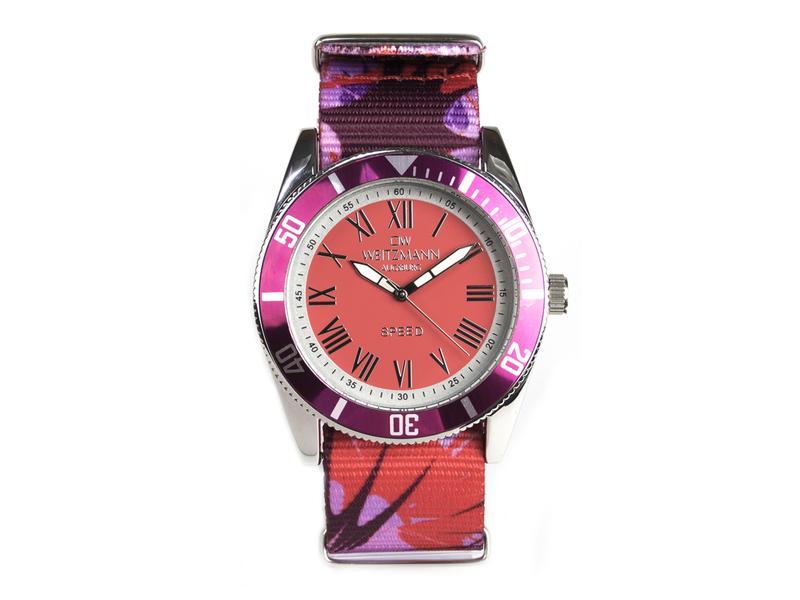 Speed Camouflage, Hippie-Unisex-Uhr, Look rot