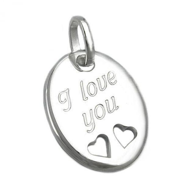 Anhänger, -I love you- Silber 925