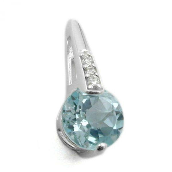 Anhänger, Blautopas Zirkonia Silber 925