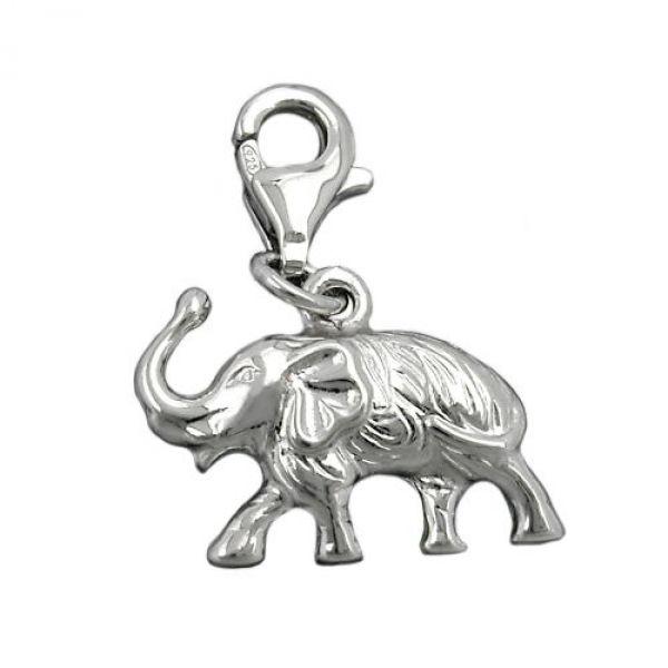 Anhänger, Charm, Elefant, Silber 925