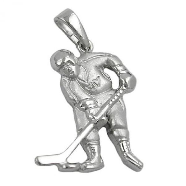 Anhänger, Eishockeyspieler, Silber 925