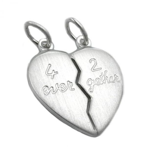 Anhänger, Herz 4ever-2gether Silber 925