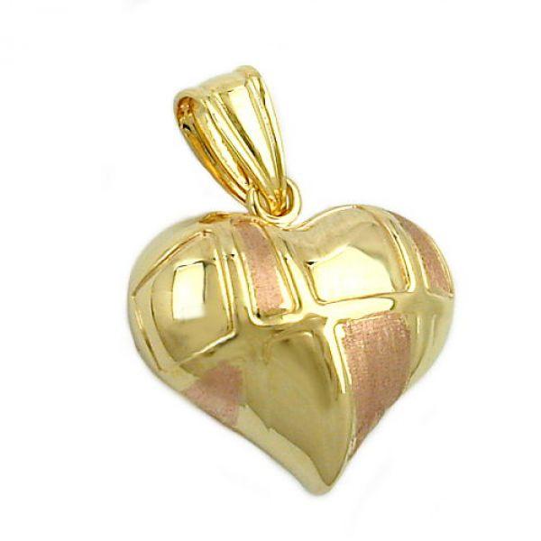 Anhänger, Herz bicolor, 9Kt GOLD