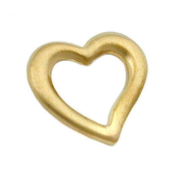 Anhänger, Herz mattiert, 9Kt GOLD