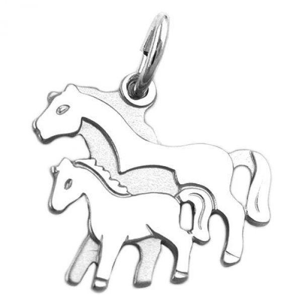 Anhänger, Pferdepaar, Silber 925