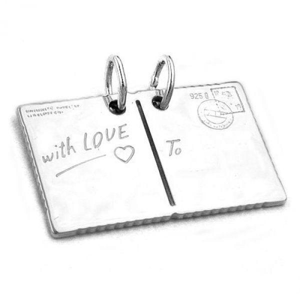 Anhänger, Postkarte with Love Silber 925