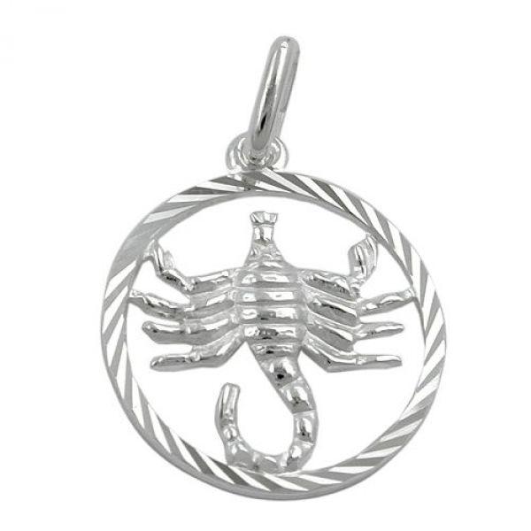Anhänger, Sternzeichen Skorpion, 925