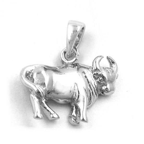 Anhänger, Stier, Silber 925