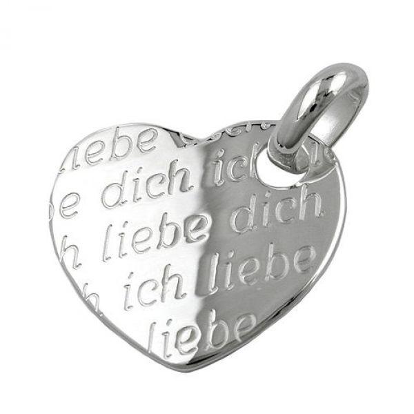 Anhänger Herz -Ich liebe Dich-Silber 925
