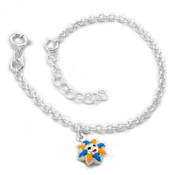 Armband Anker Sonne Silber 925 14cm