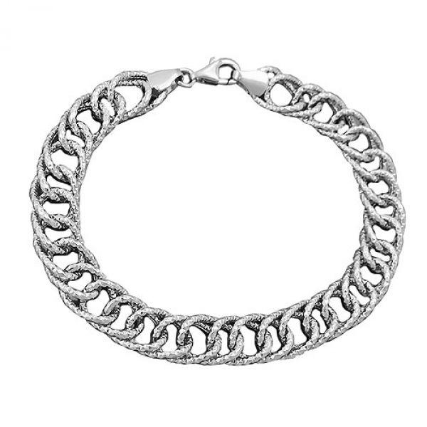 Armband Fantasie, rhodiniert, Silber 925 19cm