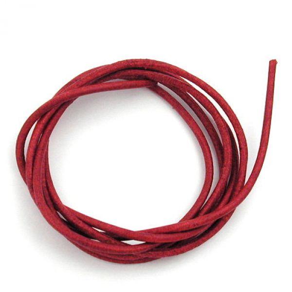 Band, Rindsleder gefärbt, rot 100cm