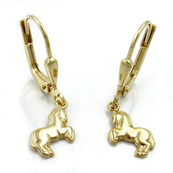 Brisur, Ohrring Pferd, 9Kt GOLD