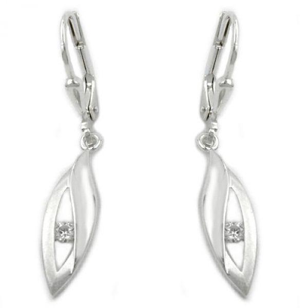 Brisur Zirkonia matt-glänzend Silber 925