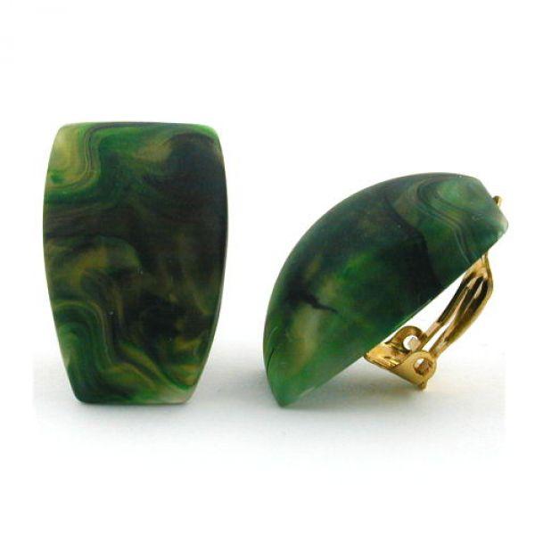 Clip, Trapez grün-marmoriert-matt