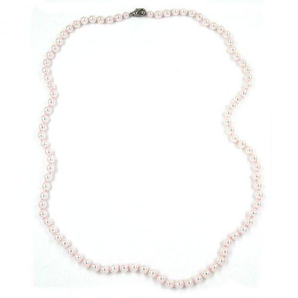 Collier, 60, Glasperlen rosa geknotet 60cm