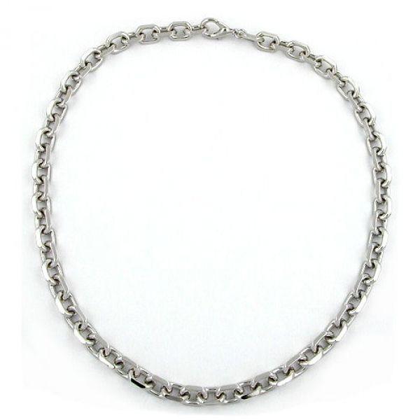Collier, Anker, diamantiert rhodiniert 50cm