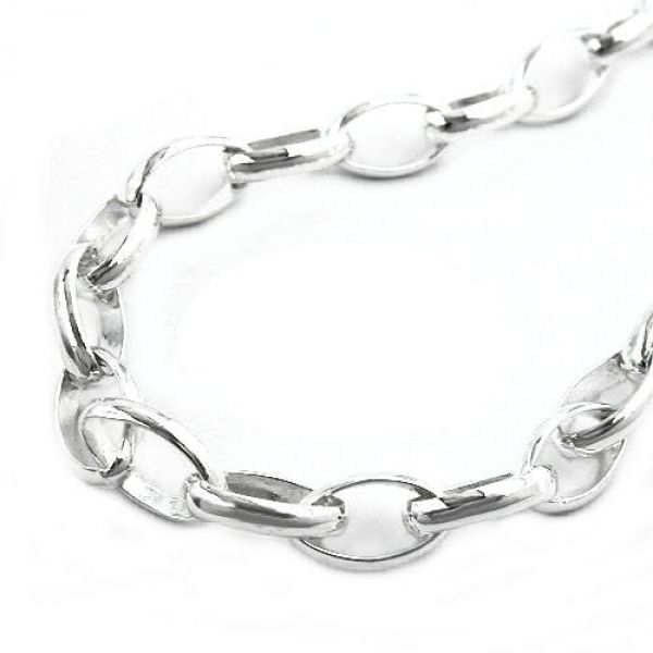 Collier, Ankerkette oval, Silber 925 70cm