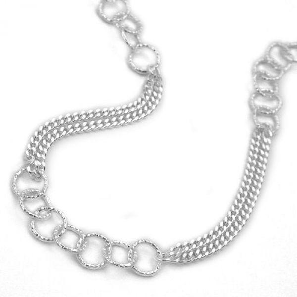 Collier, Fantasie, Silber 925 42cm