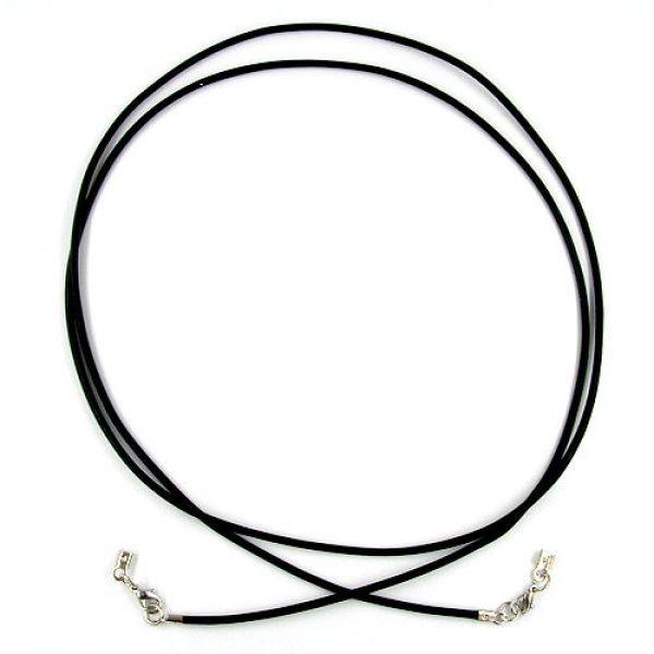 Collier, Lederband, 2x Verschluss 100cm
