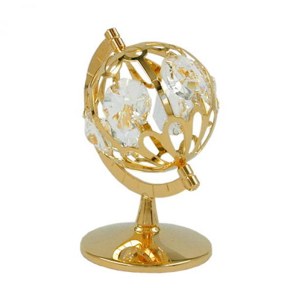 Globus, mit Glas-Steinen