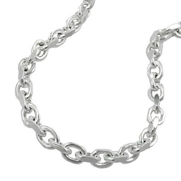 Kette, Ankerkette 4x diamantiert, 925 50cm