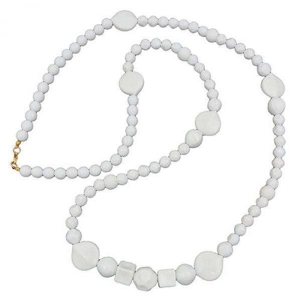 Kette, Perle und Blattperle weiß