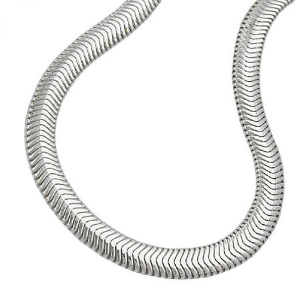Kette, Schlange flach 42cm, Silber 925 42cm