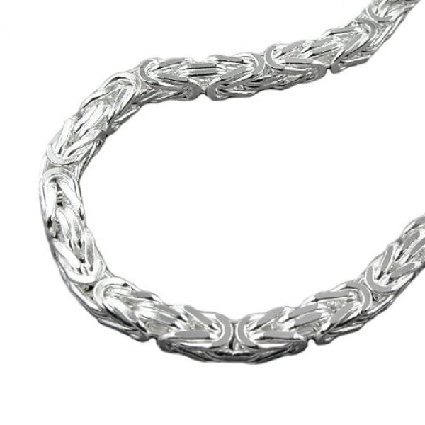 Kette, 8mm Königskette, Silber 925