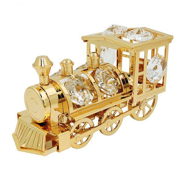 Lokomotive mit Glas-Steinen