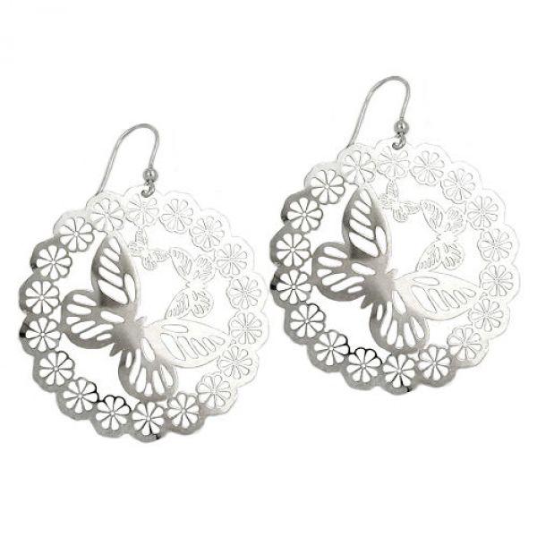 Ohrhaken, Schmetterling, Silber 925