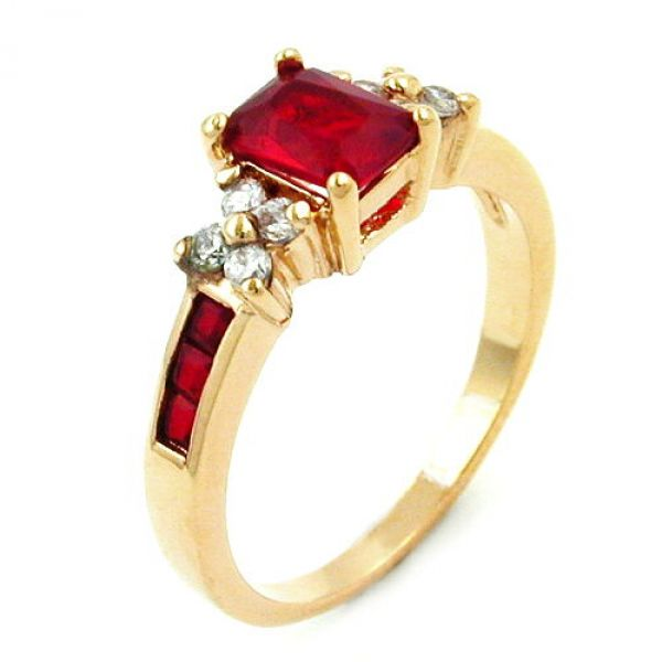 Ring, Zirkonia, vergoldet 3 Micron