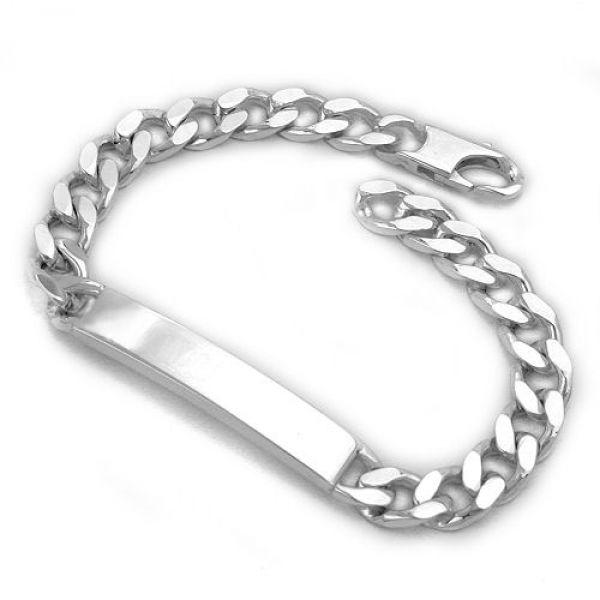Schildband, Armband Panzer, Silber 925 21cm