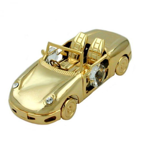 Sport-Auto ohne Verdeck mit Glas-Steinen