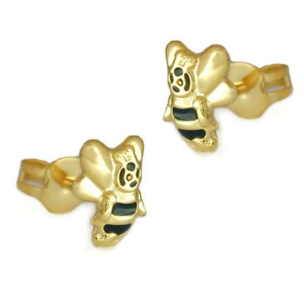 Stecker, Biene, 9Kt GOLD