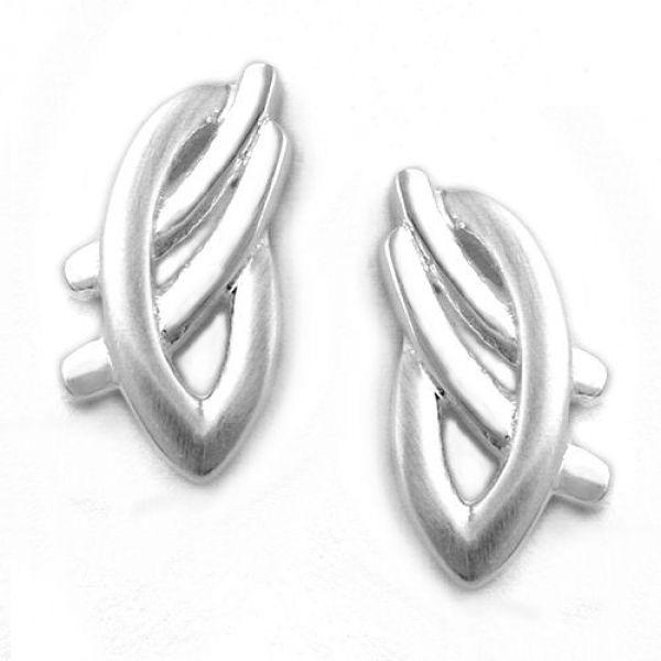 Stecker, matt-glänzend, Silber 925