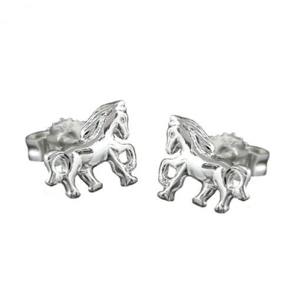 Stecker, Pferd rechts-links, Silber 925