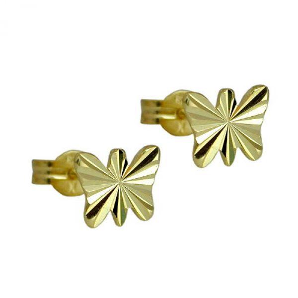 Stecker, Schmetterling, 8Kt GOLD